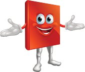Book mascot education character