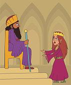 book of Esther cartoon illustration