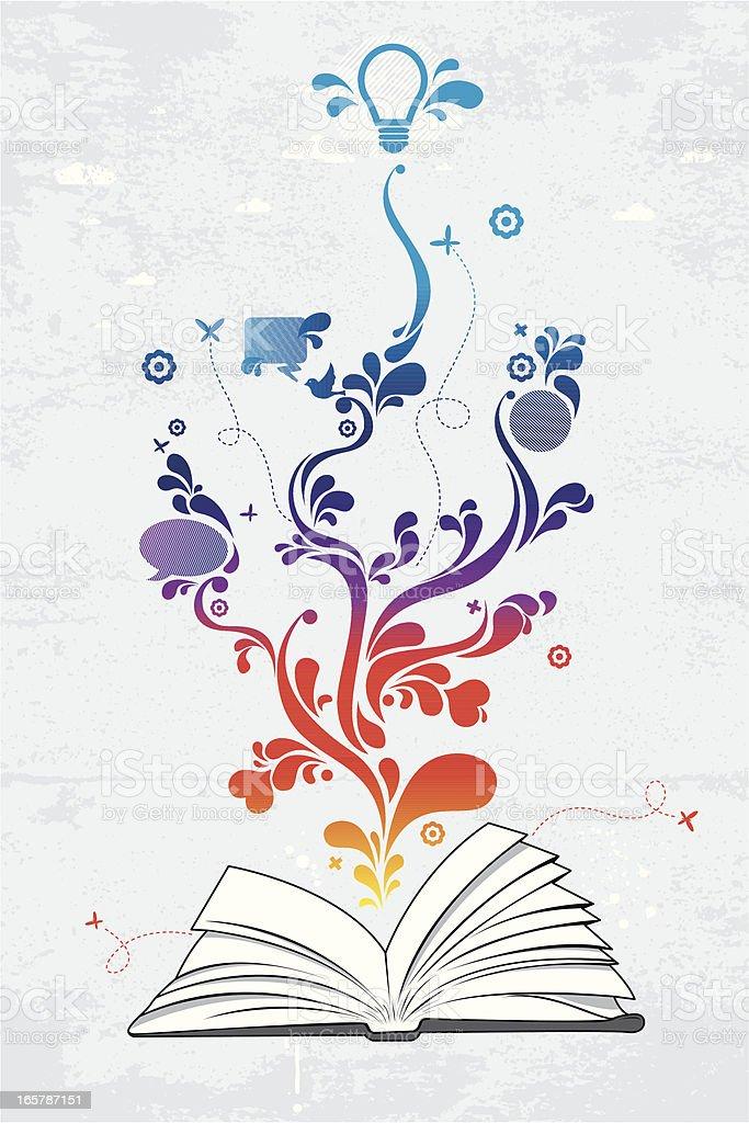 Book of ideas royalty-free stock vector art