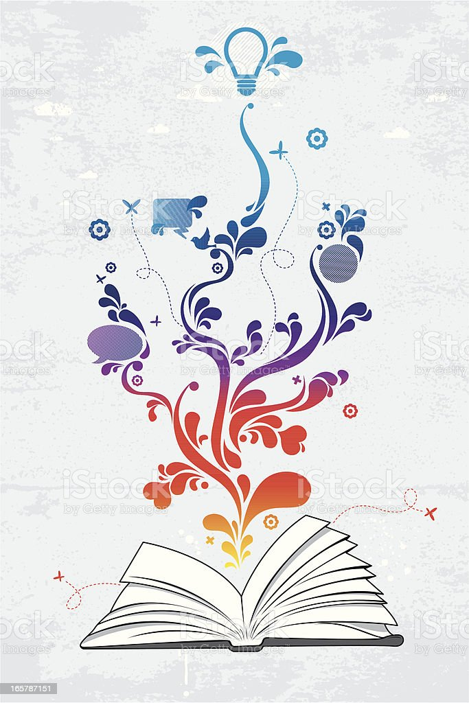 Book of ideas vector art illustration