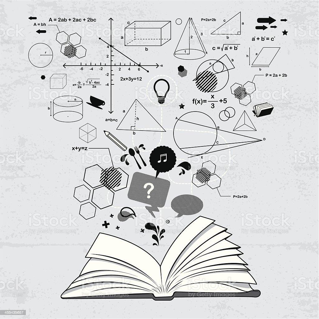 Book of solutions vector art illustration