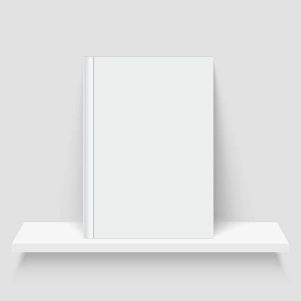 Book on the shelf vector art illustration