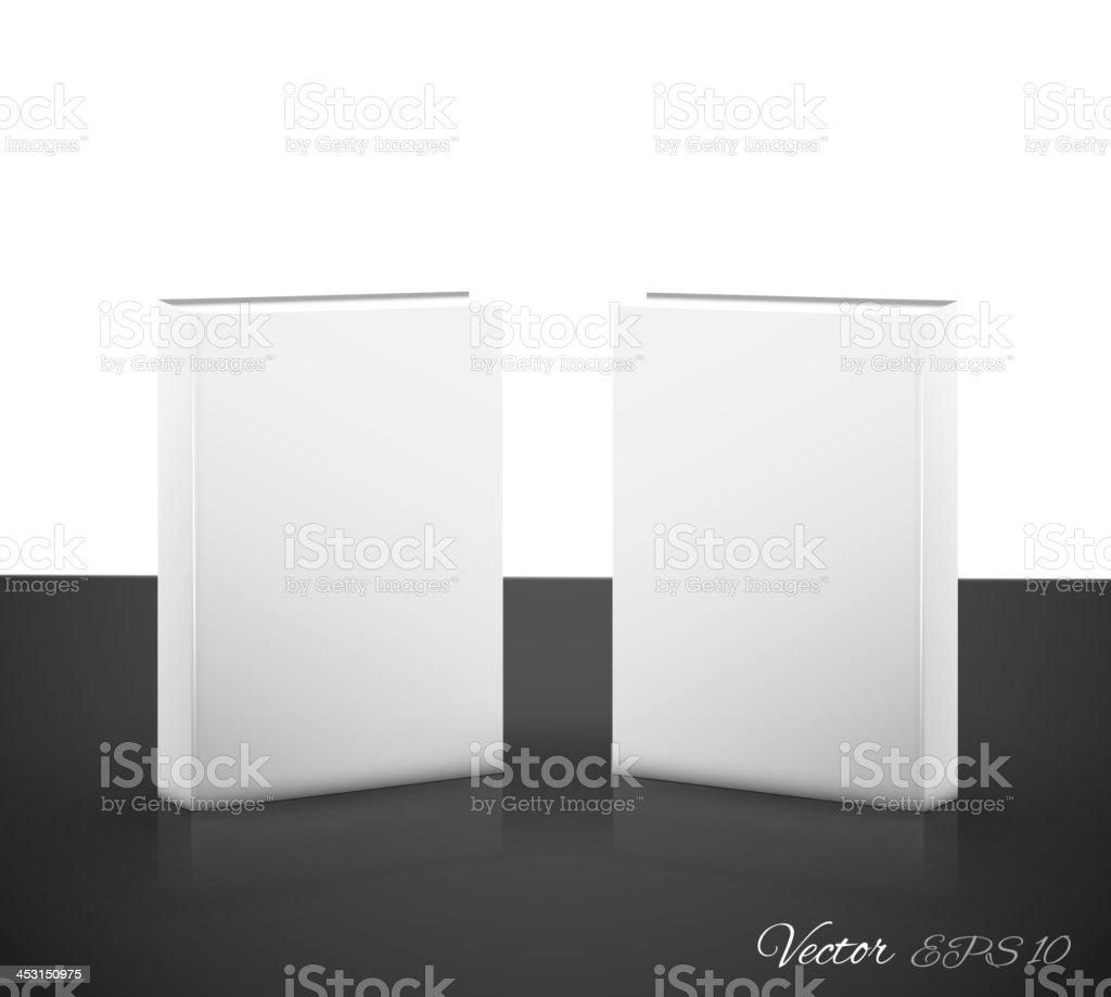 Book on white vector art illustration