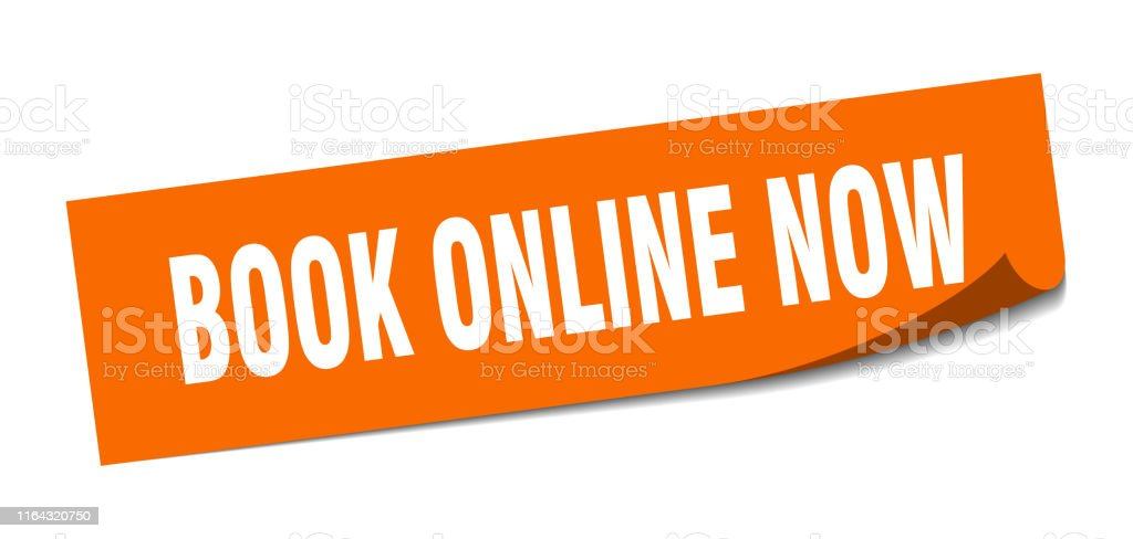 book online now sticker. book online now square isolated sign. book...