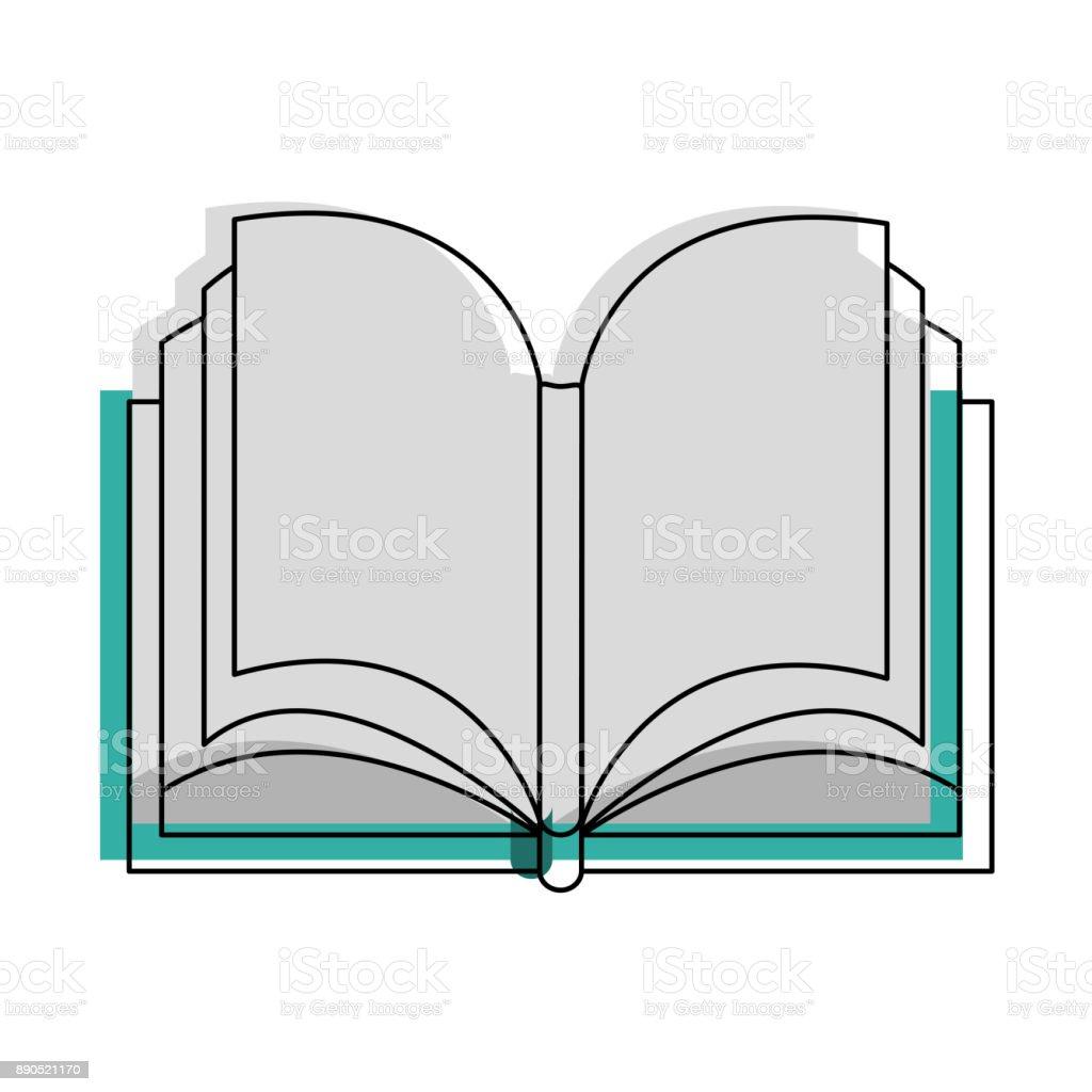 Buch öffnen isoliert – Vektorgrafik