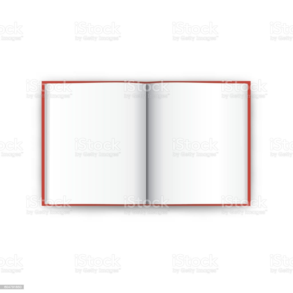 Book open top view vector vector art illustration