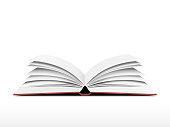 Book open vector
