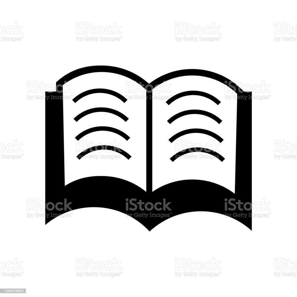 Livre Ouvert Au Centre Icone Vector Signe Et Le Symbole