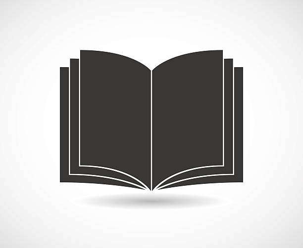 book opened black icon book opened black icon design book silhouettes stock illustrations