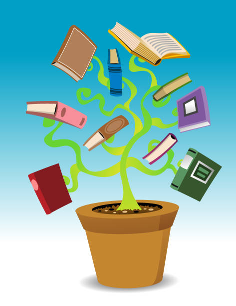 Book Plant vector art illustration