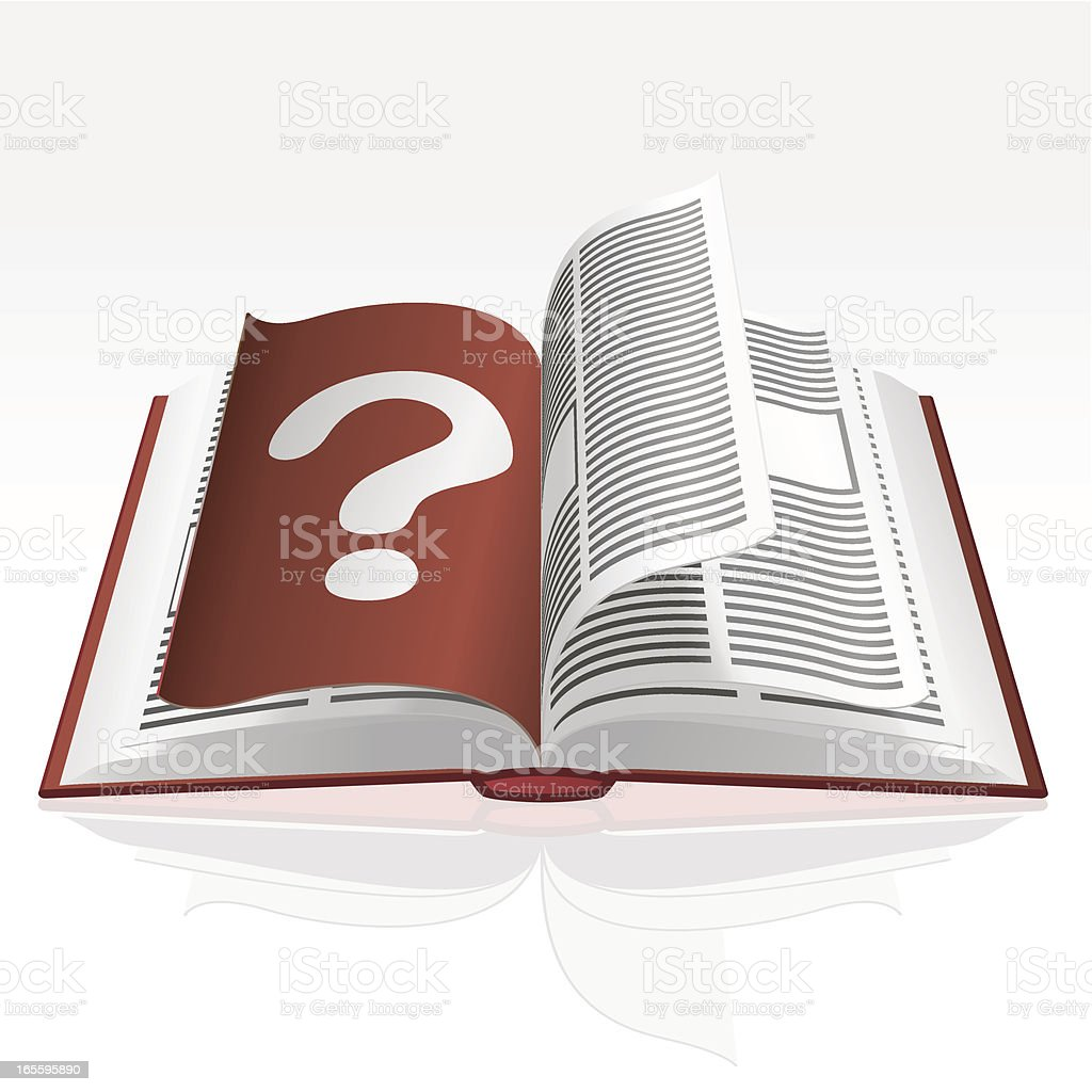 Book - Question Mark royalty-free book question mark stock vector art & more images of book