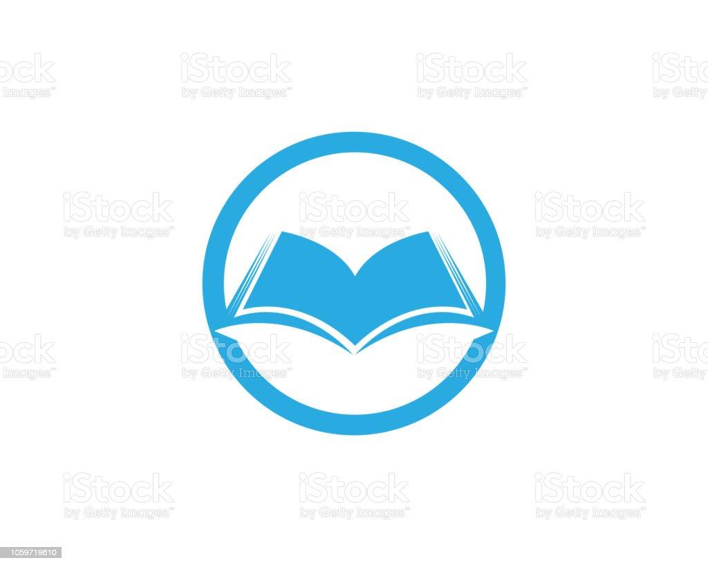 Livre De Lecture Logo Et Symboles App Icones De Modele