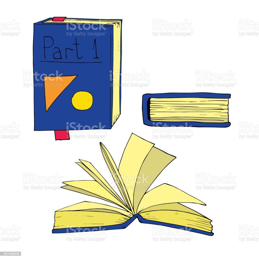 book set vector illustration vector art illustration