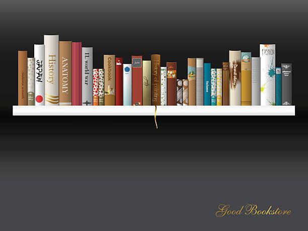 Book shelf. Vector illustration. Bookstore indoor. vector art illustration