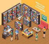 book shop illustration