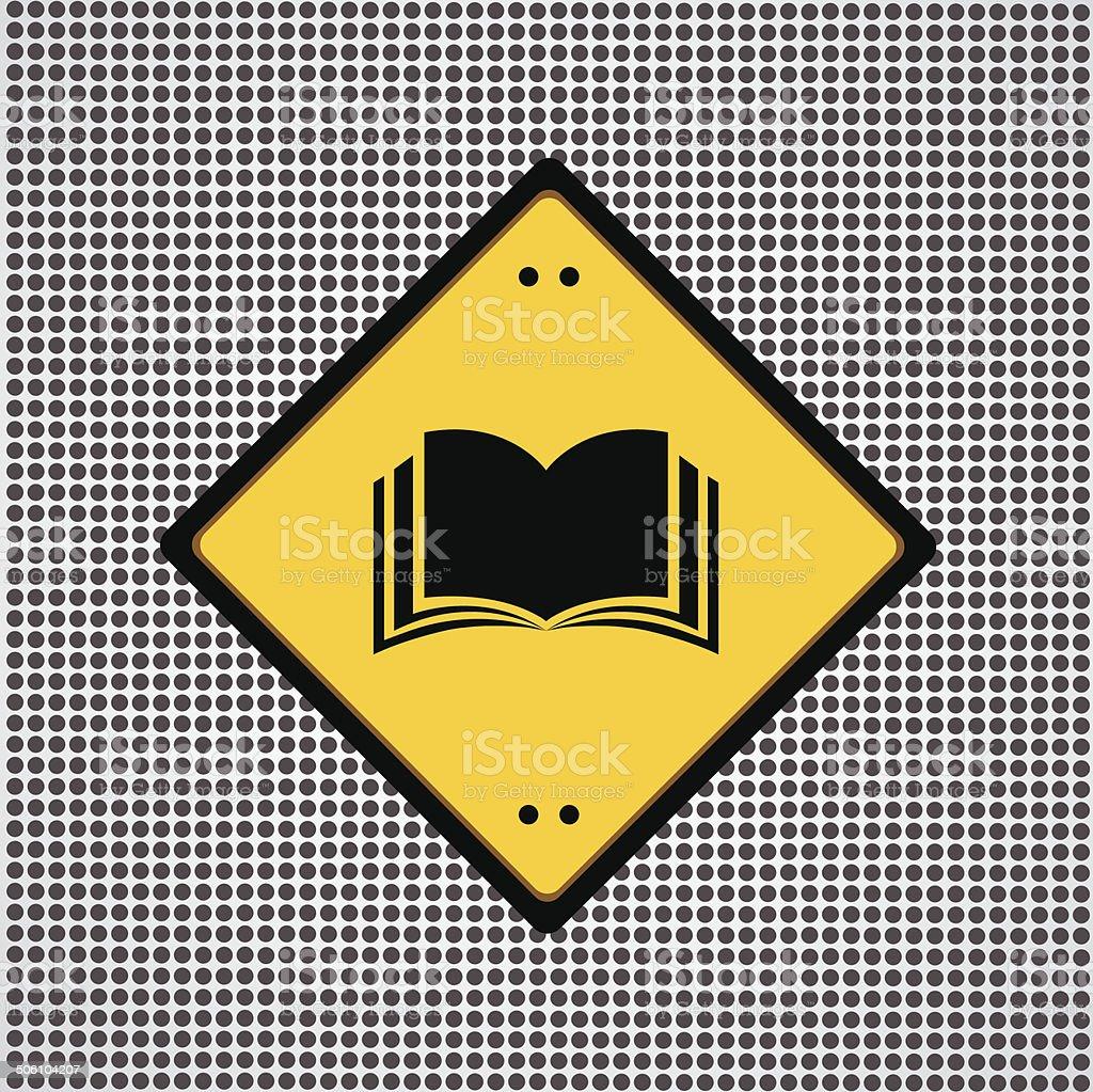 book sign vector art illustration