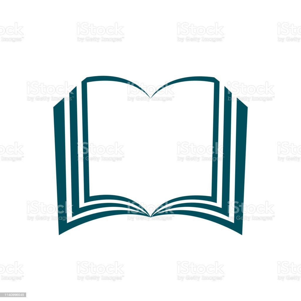 Book silhouette icon, book illustration - stock vector