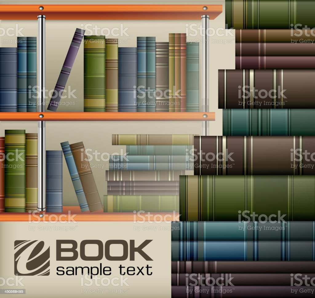 Book stacks on shelf royalty-free book stacks on shelf stock vector art & more images of book