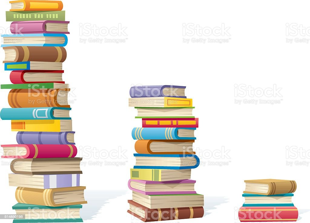 Book Stacks vector art illustration
