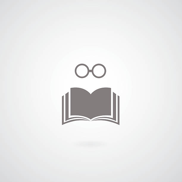 book symbol book symbol on gray background fully unbuttoned stock illustrations
