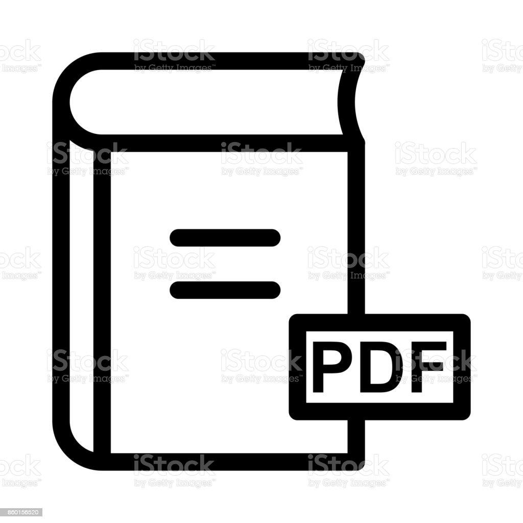 PDF book Thin Line Vector Icon vector art illustration