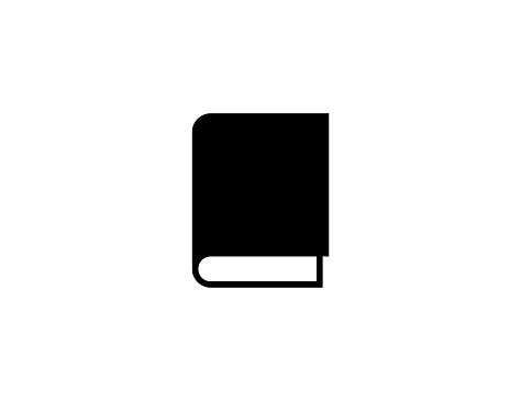 Book vector icon. Isolated Closed Book, Notebook Cover flat illustration symbol - Vector