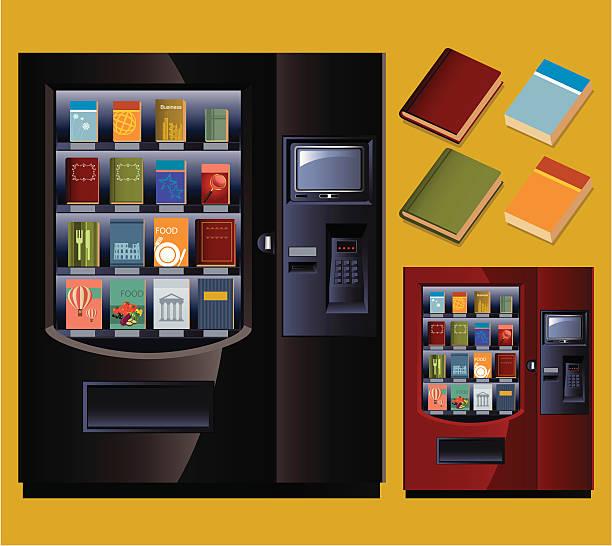 book vending machine - empty vending machine stock illustrations