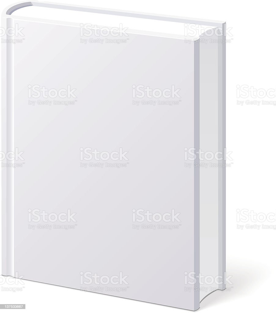 Book White Blank Isolated royalty-free stock vector art