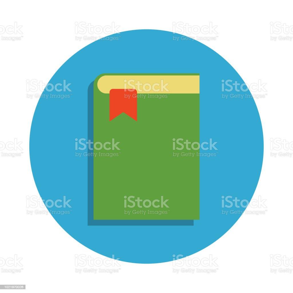 Livre Avec Un Signet De Couleur Dans Licone De Carte Bleue