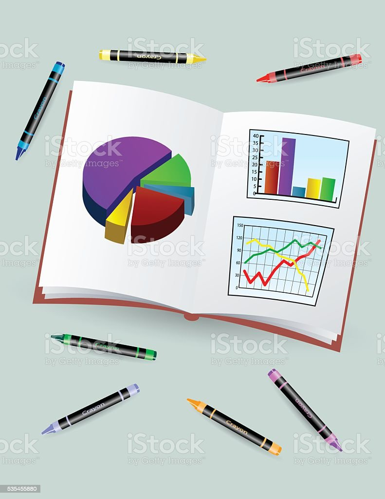 Book With Charts royalty-free book with charts stock vector art & more images of bar graph