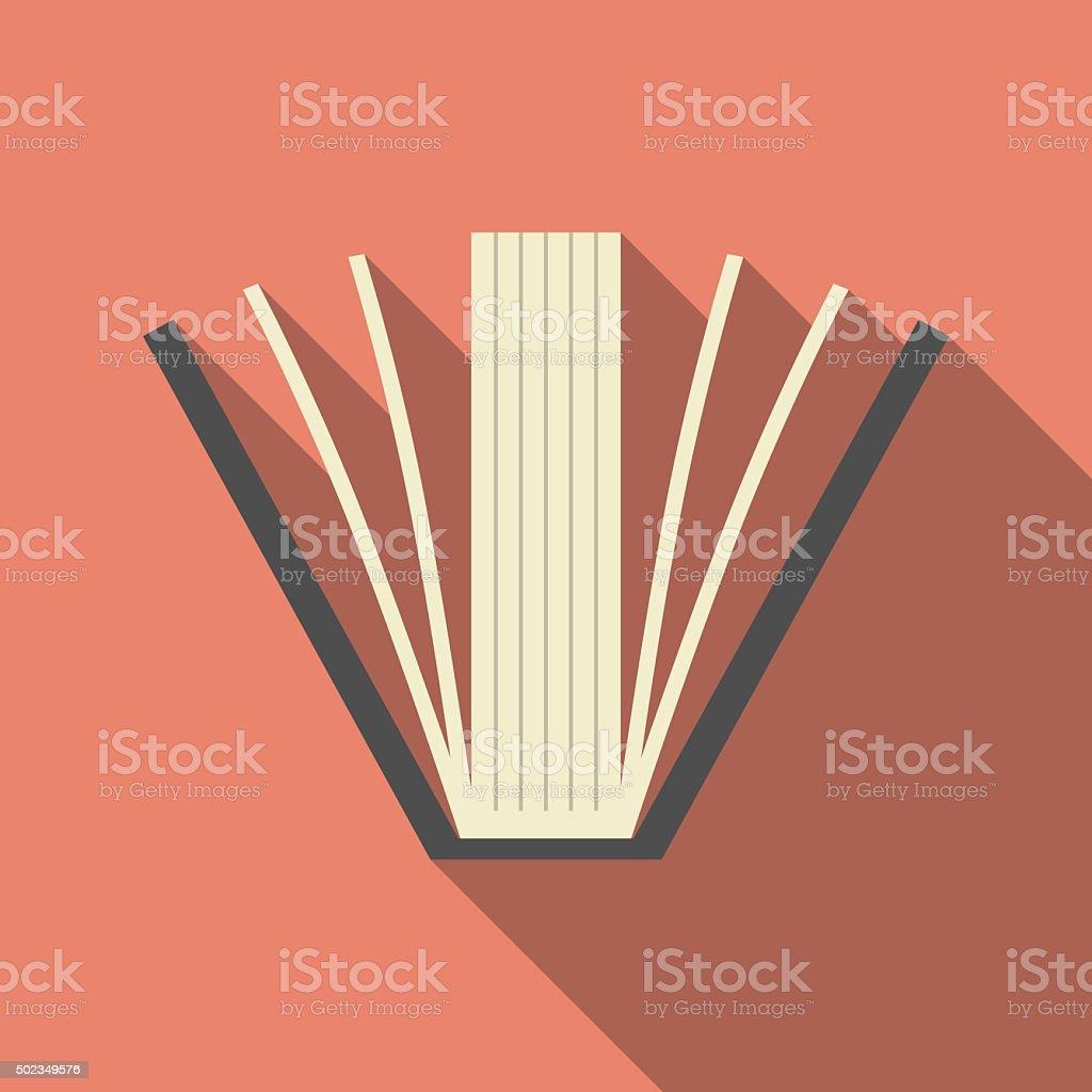 Buchen Sie mit langen Schatten – Vektorgrafik