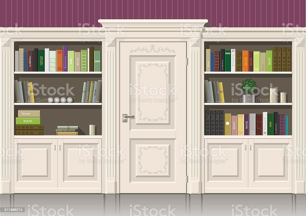 Reserve armário de madeira - ilustração de arte em vetor