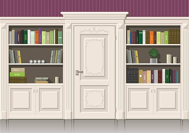 ilustrações, clipart, desenhos animados e ícones de reserve armário de madeira - molduras decorativas