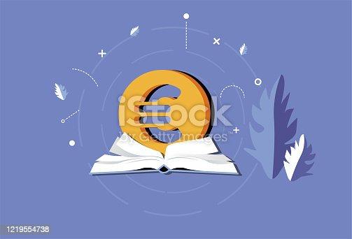 Book,Book Cover,Bookmark, Eurozone,Euro Symbol,