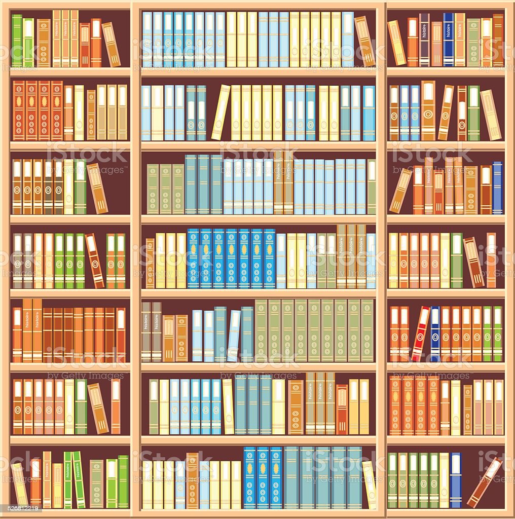 Bookcase Full Of Books Royalty Free Stock Vector Art Amp