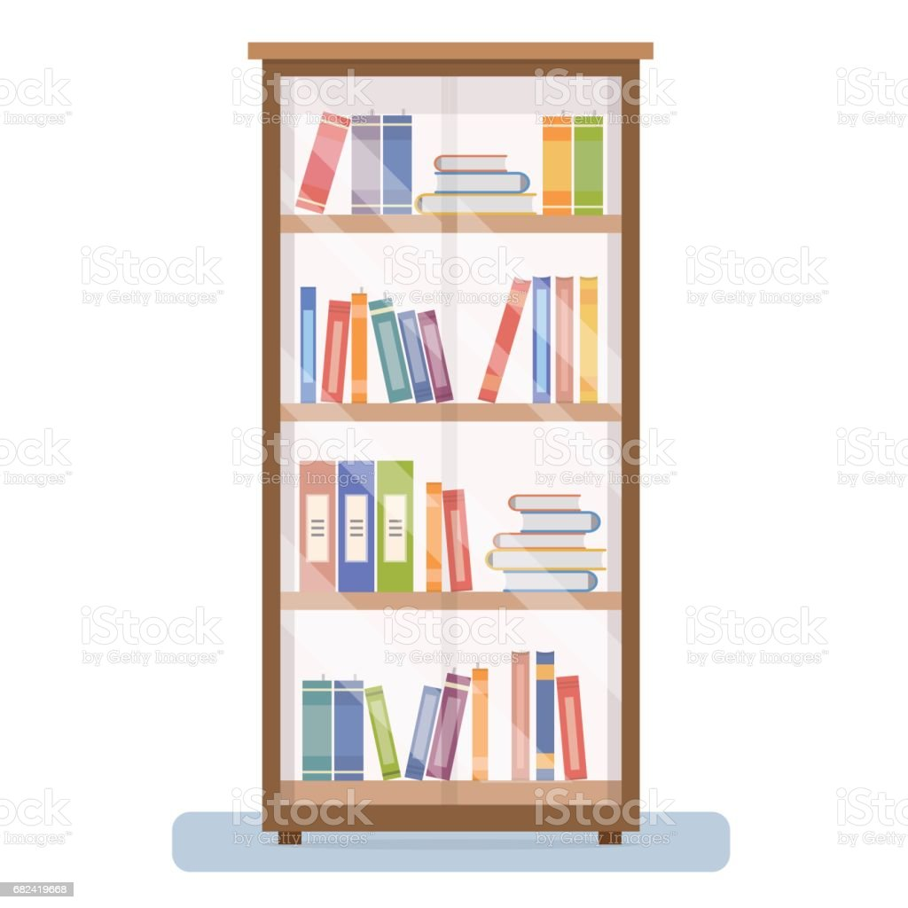 Bookcase on white background. royalty-free bookcase on white background stock vector art & more images of advice