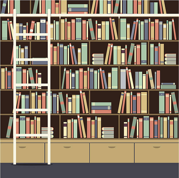 Bookshelf Clip Art, Vector Images & Illustrations - iStock