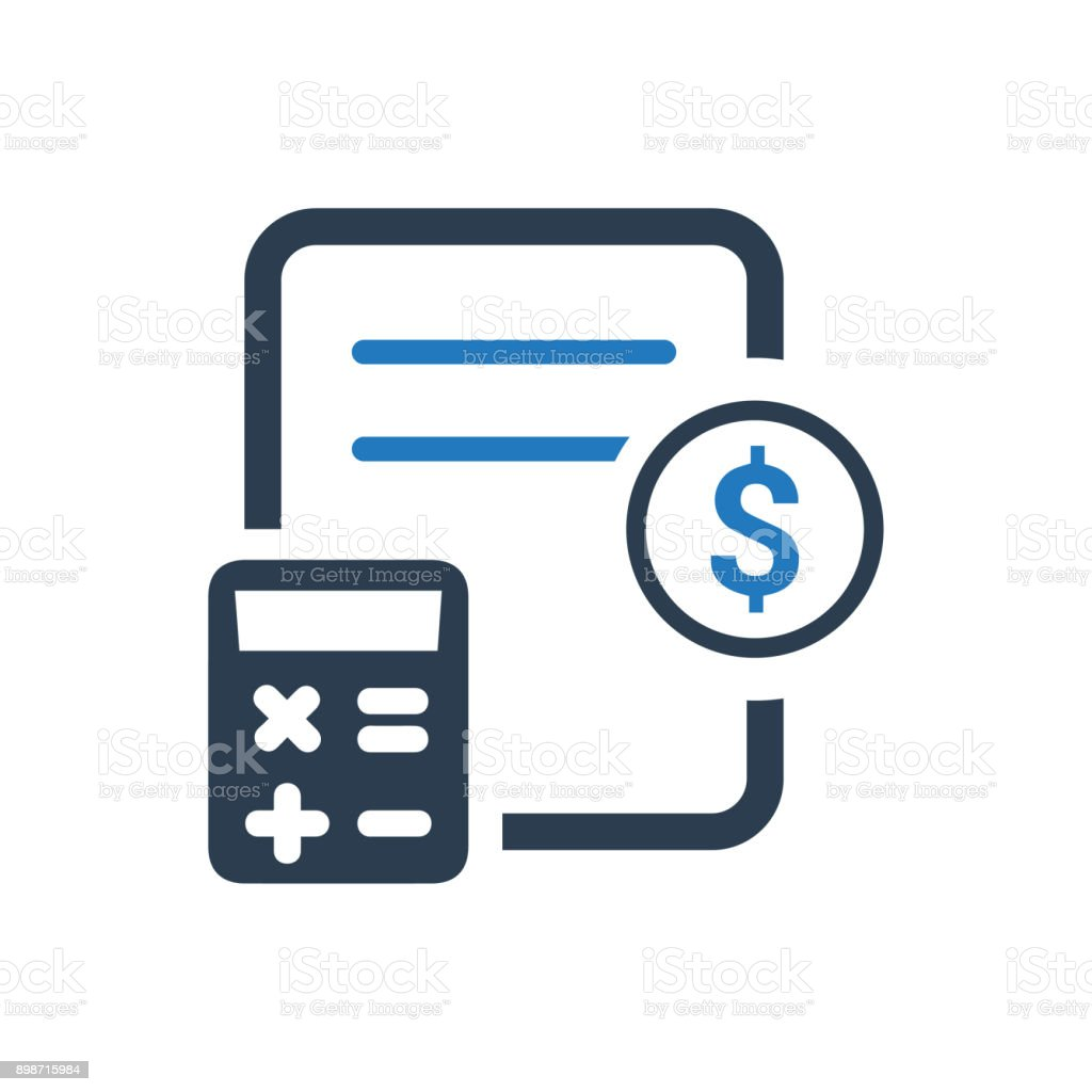 Bookkeeping Icon vector art illustration