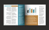 Booklet page. Magazine layout for infographics. Web template.
