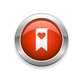 An illustration of bookmark and heart shape glossy icon for your web page, presentation, apps and design products. Vector format can be fully scalable & editable.