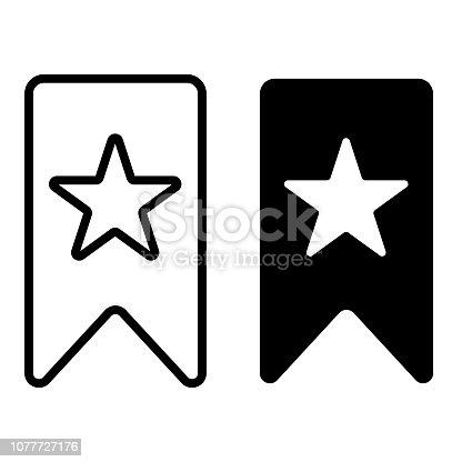 istock Bookmark glyph icon 1077727176