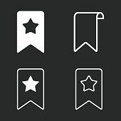 istock Bookmark icon set. 820399282