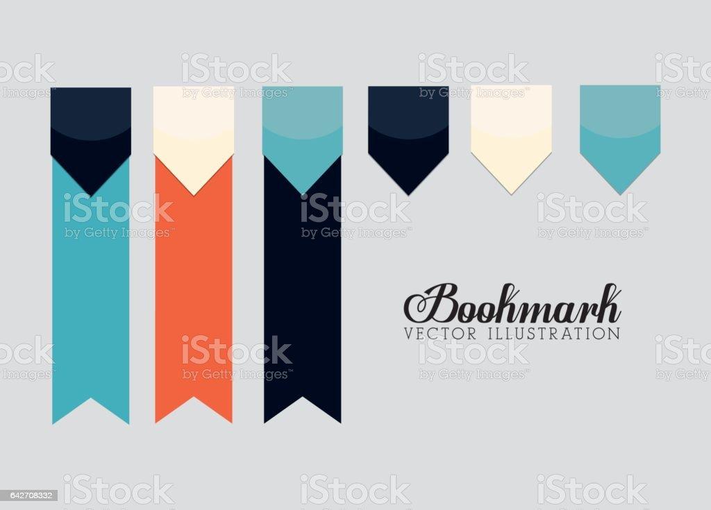 Bookmark icons illustration vector art illustration