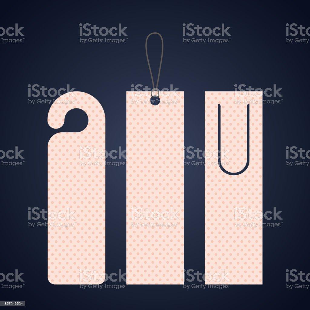Bookmark label tag design vector art illustration