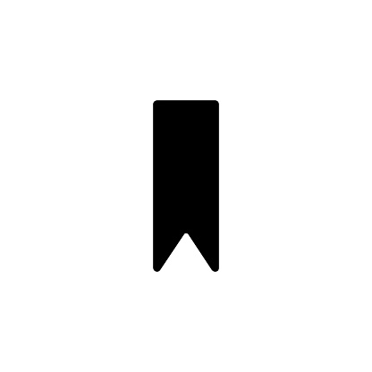 Bookmark vector icon. Isolated bookmark, label flat emoji, emoticon symbol - Vector