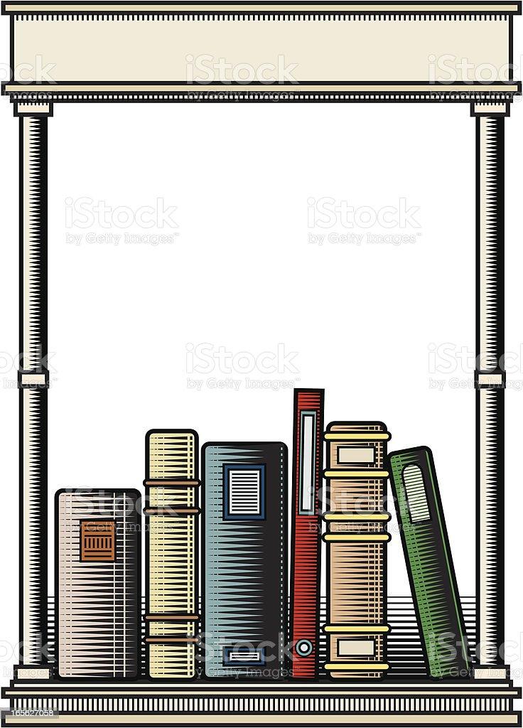 Bookplate vector art illustration