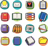 books and documents icons
