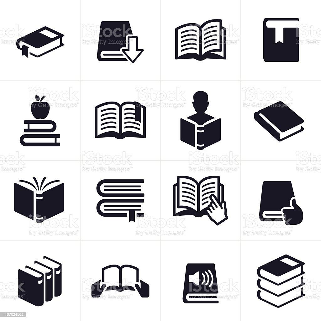 Büchern Lernen Und Bildungicons Und Symbole Stock Vektor Art und ...