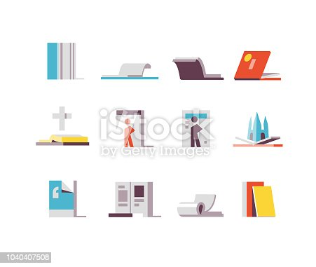 Books, periodicals, papers and magazines icons