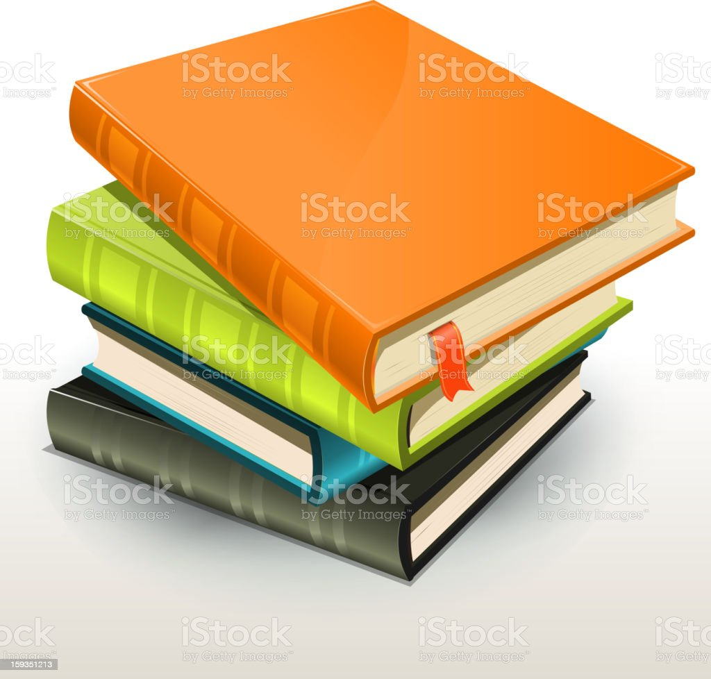 Books And Pics Albums Pile vector art illustration